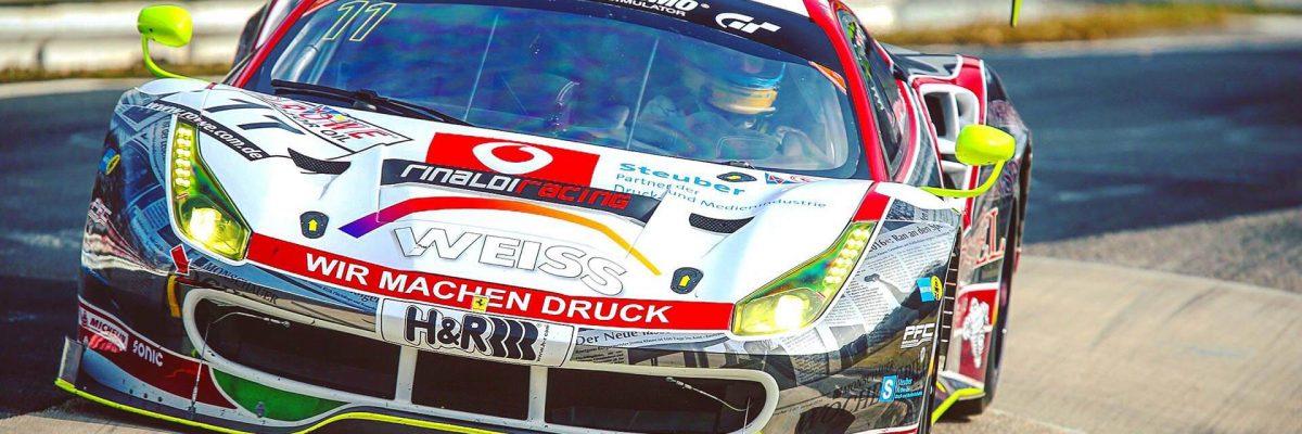 VLN 1. Lauf 2018, Nürburgring-Nordschleife - Foto: Gruppe C Photography; #11 Ferrari 488 GT3, Wochenspiegel Team Monschau: Leonard Weiss, Christian Menzel, Nico Menzel