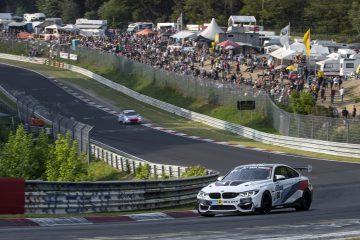 Nürburgring (GER) 12th May 2018. BMW M Motorsport, 24h Nürburgring, #60 Securtal Sorg Rennsport (GER), BMW M4 GT4: Dirk Adorf (GER), Tom Coronel (NED), Nico Menzel (GER), Beitske Visser (NED)